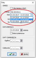 Bieżąca data i okres