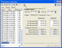 parametry naliczania